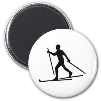 Cross Country Skiing Magnet