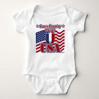 Cross Country Skiing USA Baby Bodysuit