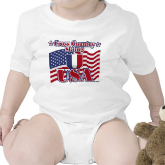 Cross Country Skiing USA Baby Bodysuits