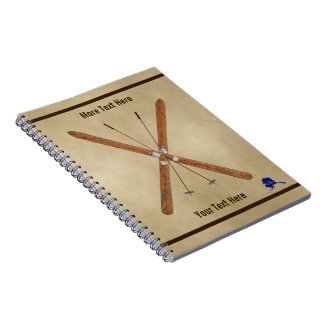 Cross-Country Skis And Poles Notebook