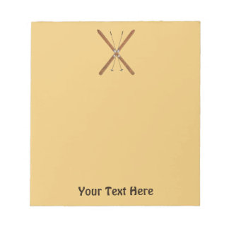 Cross-Country Skis And Poles Notepad