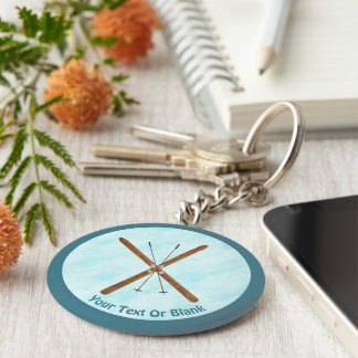 Cross-Country Skis On Snow Keychain