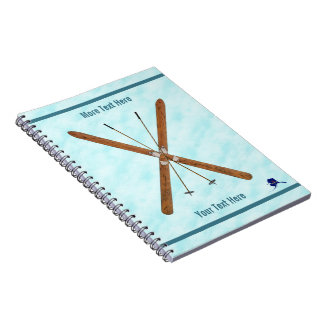 Cross-Country Skis On Snow Notebook