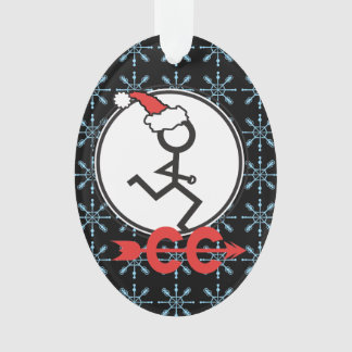 Cross Country Snowflakes Holiday Runner © Ornament