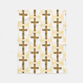 Cross Design Fleece Blanket