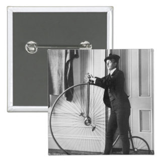 Cross-Dressed Cyclist 1890 Pinback Buttons