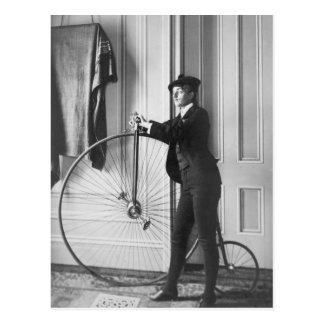 Cross-Dressed Cyclist, 1890 Postcard