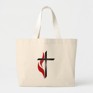 CROSS & FLAME LARGE TOTE BAG