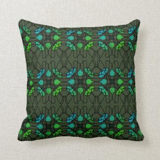 Cross Flower Lacing--Evergreen Design Throw Pillow