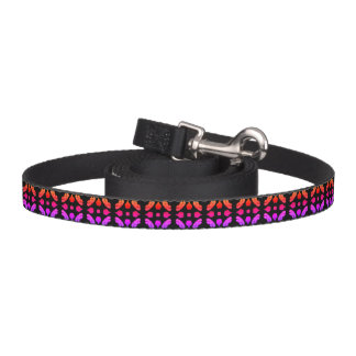 Cross Flower-marron/black design Pet Leash