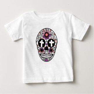 Cross flower skull art baby T-Shirt