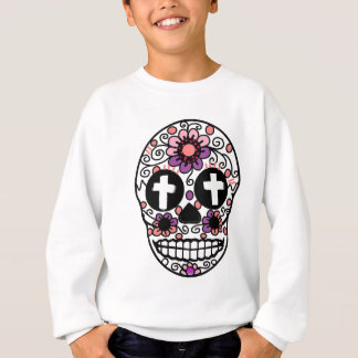 Cross flower skull art sweatshirt