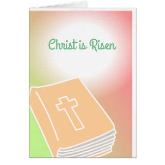 Cross Greeting Card Bible Christ is Risen