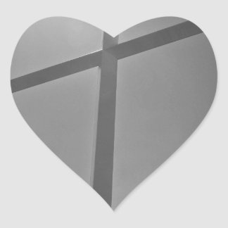 Cross Heart Sticker