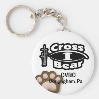 Cross I Bear Keychain