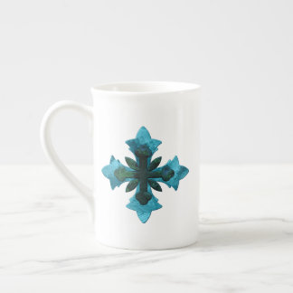 Cross in Blues & Greens Mug