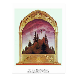 Cross In The Mountains By Caspar David Friedrich Postcard