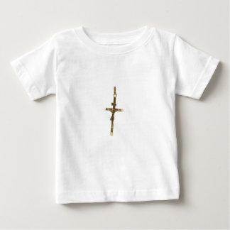 Cross Jesus Christ gold horizontal Baby T-Shirt