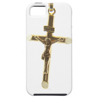 Cross Jesus Christ gold horizontal Case For The iPhone 5