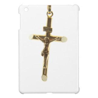 Cross Jesus Christ gold horizontal iPad Mini Cases
