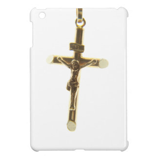 Cross Jesus Christ gold horizontal iPad Mini Cover