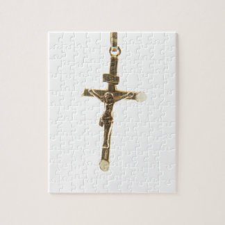 Cross Jesus Christ gold horizontal Puzzles