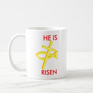 cross, KEEP, CHRIST , IN, CHRISTMAS, HE IS, RISEN Coffee Mug