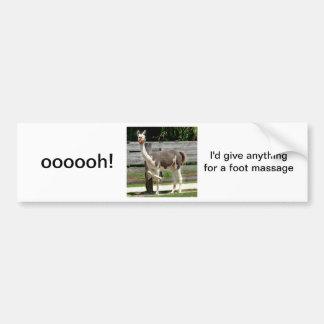 Cross-Legged Llama Bumper Sticker