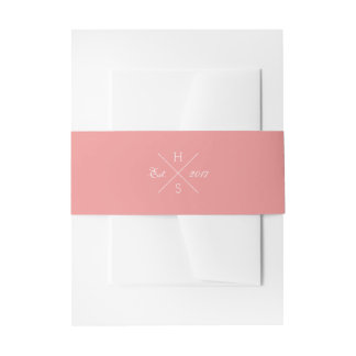 Cross Monogram Belly Band Invitation Belly Band