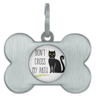 Cross My Path Pet ID Tags