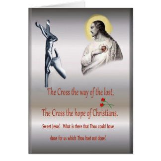 Cross of Christ greeting card, religious Card