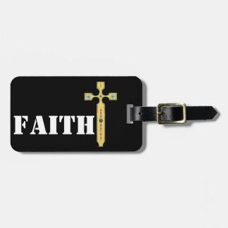 cross of faith luggage tag
