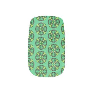 Cross of Green Minx Nail Art