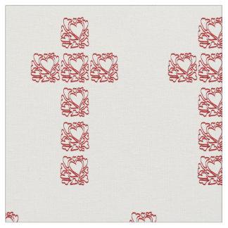 Cross of Hearts Fabric