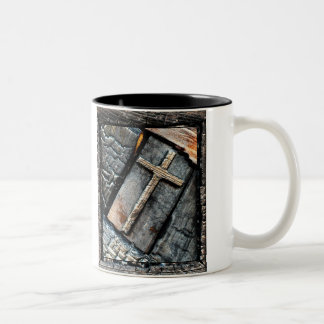 Cross of Protection Two-Tone Coffee Mug