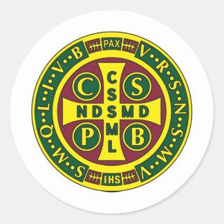 Cross of St. Benedict Design 2 Classic Round Sticker