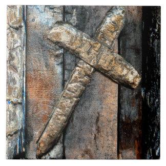 Cross of Strength Ceramic Tiles