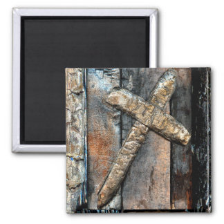 Cross of Strength Square Magnet