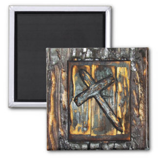Cross of The Apocalypse Square Magnet