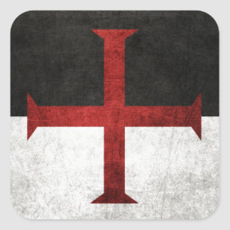 Cross of the Teutonic Knights Square Sticker