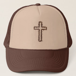 Cross of thorns trucker hat