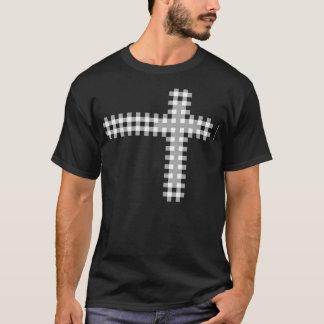 Cross Plaid White T-Shirt