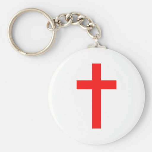 Cross (Red) Key Chain
