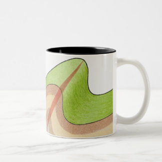 Cross-section illustration of a fold in the rock Two-Tone coffee mug