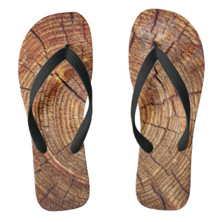 CROSS SECTION OF AN OLD TREE FLIP FLOPS
