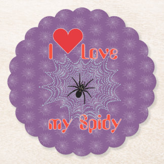 Cross spider in the net reductor paper coaster