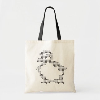 cross-stitch duckling tote