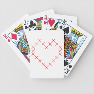 Cross stitch heart bicycle playing cards