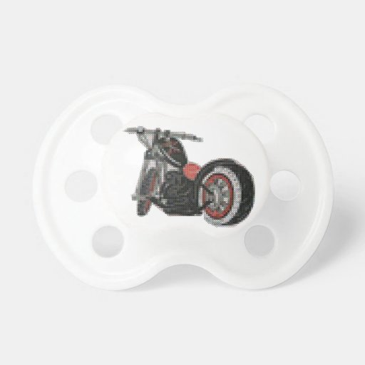 cross stitch motorcycle embroidery baby pacifiers