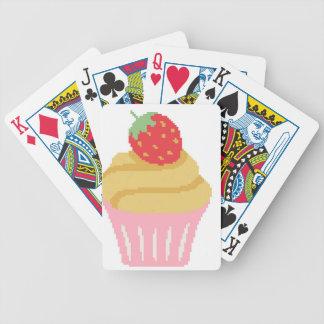 Cross stitch strawberry cupcake poker deck